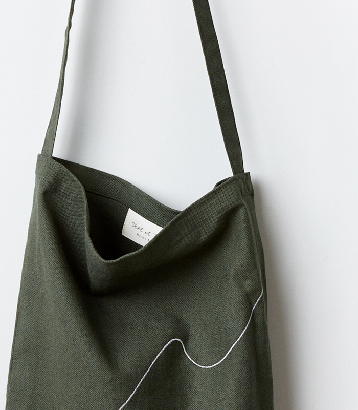 round eco bag _ khaki