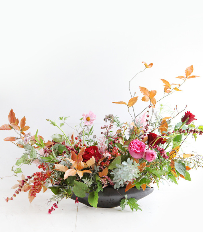 autumn with winter centerpiece