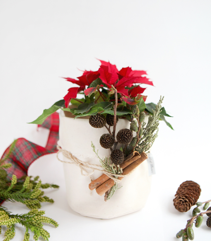 christmas fabric pot