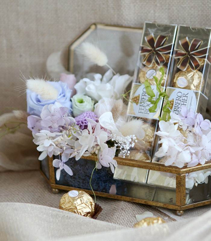 preserved flower jewerly box