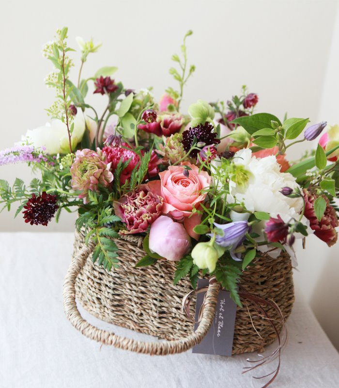 Carnation Garden Basket